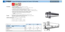 30 0825 Přesný OZ kleštinový upínací trn Centro P (CP) krátký