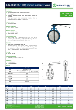l32.5s (ref. 1123) centric butterfly valve