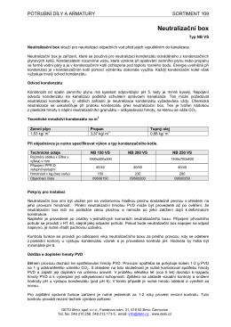 Neutralizační box - Deto Brno, spol. s ro