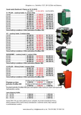 Nový ceník platný od 18.5.2015 ke stažení zde.