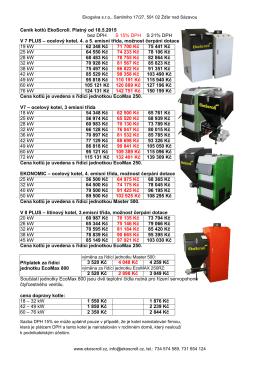 Ekoscroll- Ceník kotlů od 05.2015