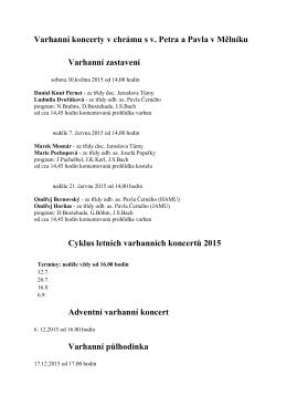 Varhanní koncerty v chrámu s v. Petra a Pavla v Mělníku Varhanní