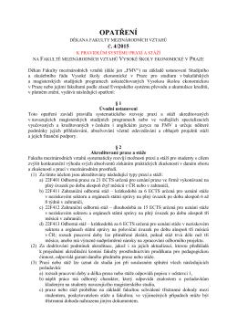 č. 4/2015 - Fakulta mezinárodních vztahů