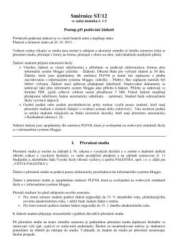 Směrnice ST/12