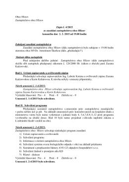 Zápis č. 4/2015 ze dne 2.3.2015