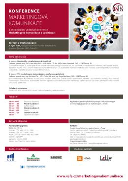 pozvánka na konferenci, 456 kB - Vysoká škola finanční a správní