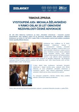Tisková zpráva_v2_final_docx - ŽIŽLAVSKÝ, advokátní kancelář