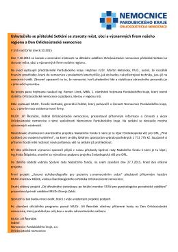TZ Setkání se starosty měst, obcí a firem našeho regionu 2015