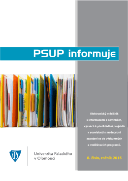 PSUP informuje - 8/2015