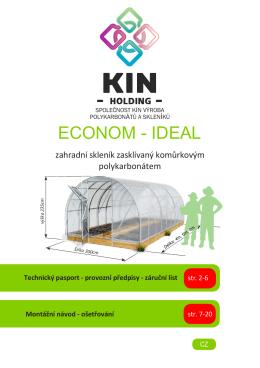 ECONOM - IDEAL - Skleníky Kinplast