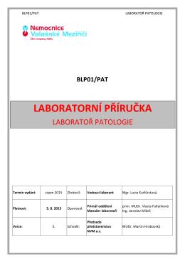 LABORATORNÍ PŘÍRUČKA - Nemocnice Valašské Meziříčí