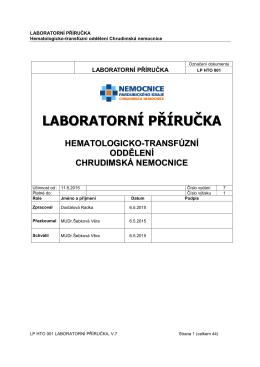 Laboratorní příručka HTO, verze č.7