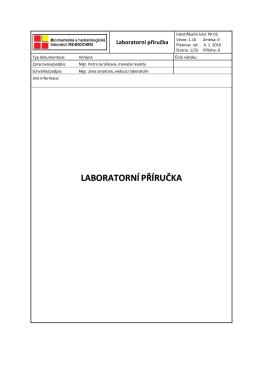 Laboratorní příručka - MZ