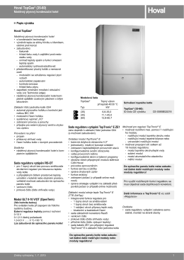 TopGas (35-60) - technický katalog
