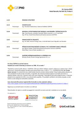 Program ke stažení - Česká fotovoltaická průmyslová asociace