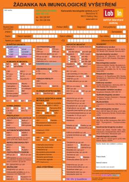 Imunologické vyšetření