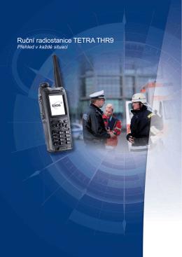 Ruční radiostanice TETRA THR9, Česky, 587.29 KB