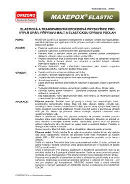 MAXEPOX®ELASTIC - DRIZORO CZ, s.r.o.