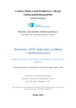 Název článku   - Výzkum insolvence