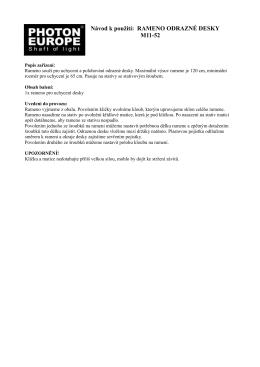 RAMENO ODRAZNÉ DESKY M11-52