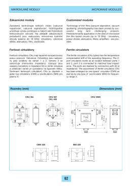 Rozmœry (mm) Dimensions (mm) MIKROVLNN… MODULY