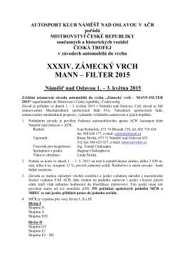 XXXIV. ZÁMECKÝ VRCH MANN – FILTER 2015
