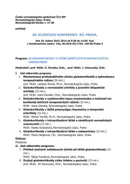 Program ke stažení - Česká revmatologická společnost ČLS JEP