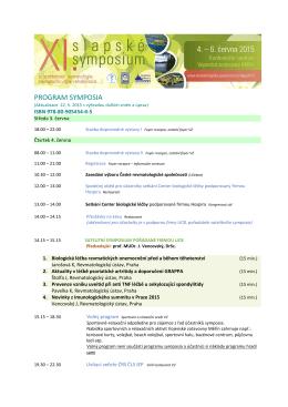 Česká revmatologická společnost ČLS JEP