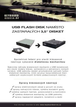 """USB FLASH DISK NAMÍSTO ZASTARALÝCH 3,5"""" DISKET"""