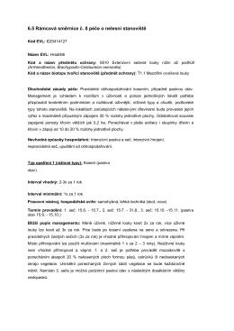 6.5 Rámcová směrnice č. 8 péče o nelesní stanoviště