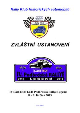 ZU-Podbrdská 2015 - Rally klub historických automobilů