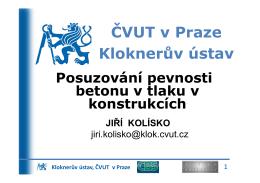 ČVUT v Praze Kloknerův ústav