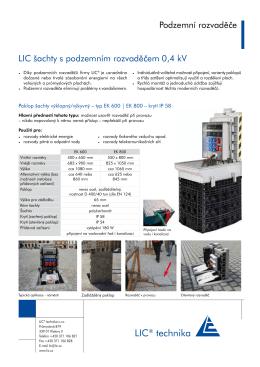LIC® technika - LIC Technika sro