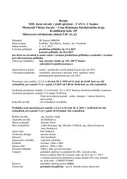 Rozpis XIII. Jarní závody v jízdě spřežení – CAN/A č. Semice