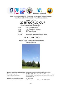2015 WORLD CUP - Fesselflug