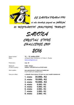 0 CZ YE Základní POZVÁNKA SVN CUP 2015