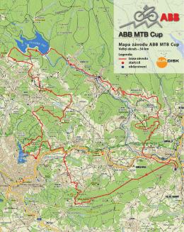 Mapa závodu ABB MTB Cup