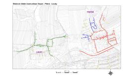 Mapa ulic, čištěných v srpnu (Louky, Prštné)