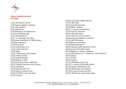 Výherci baseballových setů (viz mapa) 1) ZŠ a MŠ Těšetice, 783 46
