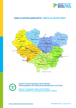 EDM CLUSTERLANDKARTE / MAPA KLASTRŮ ERDV
