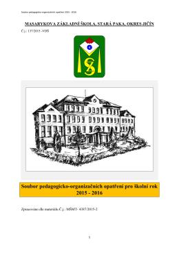 Soubor pedagogicko-organizačních opatření 2015/2016