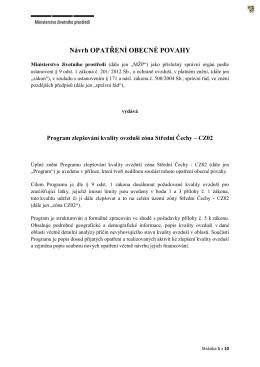 Návrh opatření obecné povahy MŽP