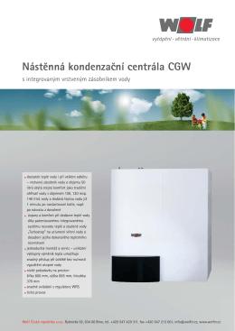 Stacionární kondenzační kotel s integrovaným - prima