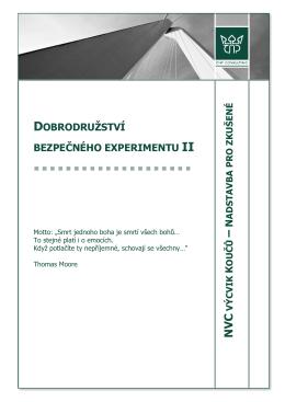 Dobrodružství bezpečného experimentu II
