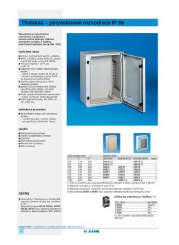 Katalog technologických rozvodnic Thalassa, krytí IP 66