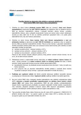 Podmínky vyplácení odměn občanům (nečlenům ZMO