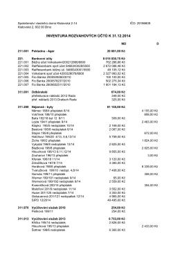 Účetní závěrka - SV Klatovská