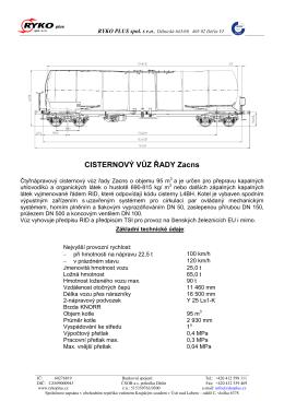 typový list řady Zacns TEN