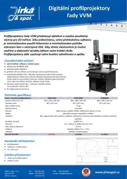 Digitální profilprojektory řady VVM