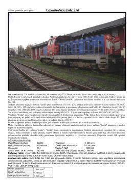 Lokomotiva řady 714 vznikla rekonstrukcí lokomotivy řady 735